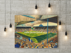 hillsborough on matchday  canvas a2size